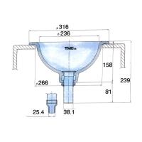 Раковина судовая керамическая 316мм