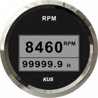 Тахометр цифровой 8000 об/мин со счетчиком моточасов (BS), SR:1-10