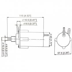 Насос водяной с монтажным хомутом 100GPH, 12В