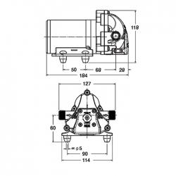 Aqua King II Standard 3.0 насос электрический 12V