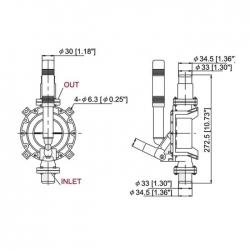 Насос осушительный ручной 720GPH  71601