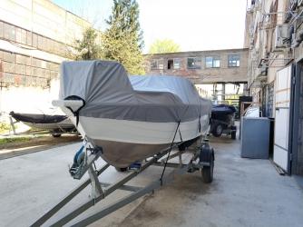 Тент стояночный на лодку Quintrex 475 Coast Runner BR new