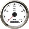 Тахометр 4000 об/мин со счетчиком моточасов (WS), SR:0.5-250