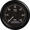 Тахометр 6000 об/мин со счетчиком моточасов (BB), SR:1-10