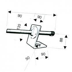 Опора транцевая РТ S.55